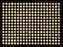 The matrix 300 yellow and white LEDs. Lighting device with variable color temperature Kelvin 3200-5500. Powered by a rechargeable