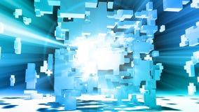 Matrix-Zusammenfassung des Würfel-3D stock abbildung