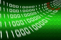 Matrixbinärzahlhintergrund stockfoto