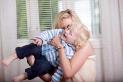 Matriz brincalhão com criança imagens de stock