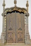 Matriz church Nossa Senhora das Dores: details of a Manueline doorway inside the old town of Monchique, Algarve royalty free stock photo