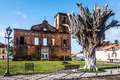 Matriz Church ruins in the historic city of Alcantara. Iconic views of Brazil: Matriz Church ruins in the historic city of Alcantara near Sao Luis, Maranhao stock photos