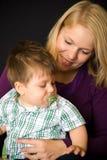 Matriz com bebé fotografia de stock