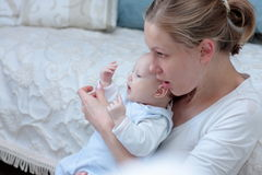 Matriz com bebé Foto de Stock