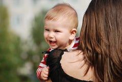 Matriz com bebê Fotografia de Stock Royalty Free