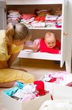 Matriz com criança Fotos de Stock Royalty Free
