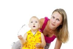 Matriz com criança pequena imagens de stock