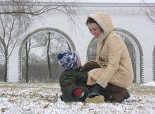 Matriz com filho Fotografia de Stock Royalty Free