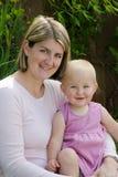 Matriz com o retrato da criança na cor-de-rosa Imagens de Stock Royalty Free