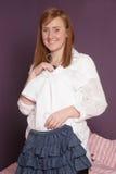 Matriz com roupa da menina Fotografia de Stock