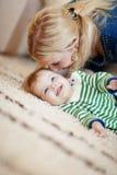 Matriz com seu bebê Imagens de Stock Royalty Free