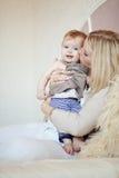 Matriz com seu bebê Imagens de Stock