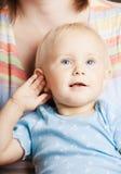 Matriz com um bebê pequeno imagens de stock royalty free