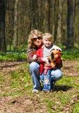 Matriz com uma criança na natureza Imagem de Stock Royalty Free