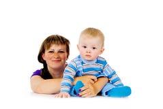 Matriz com uma criança pequena imagem de stock royalty free