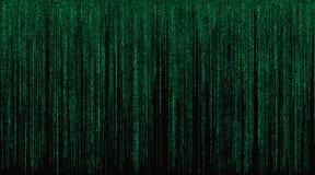 Matriz con el fondo verde de los símbolos Imágenes de archivo libres de regalías