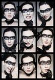 Matriz das emoções Imagens de Stock