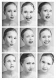 Matriz das emoções Fotografia de Stock