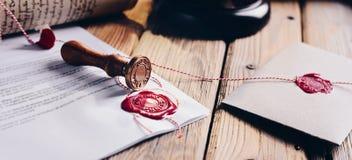 Matriz de la cera del notario público imagen de archivo libre de regalías