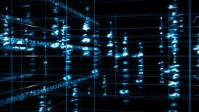 Matriz de los datos de Digitaces stock de ilustración