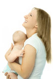 Matriz de riso bonita com seu bebê Fotografia de Stock Royalty Free