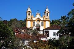 Matriz de Santo Antonio church of tiradentes minas gerais brazil Royalty Free Stock Photography