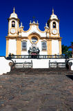 Matriz de Santo Antonio church of tiradentes minas gerais brazil Royalty Free Stock Photography