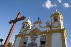 Matriz de Santo Antonio - Tiradentes Immagini Stock Libere da Diritti