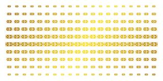 Matriz de semitono de oro del billete de banco euro Foto de archivo