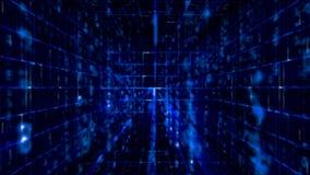 Matriz del vídeo de los datos de Digitaces ilustración del vector