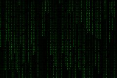 Matriz digital verde clara del fondo de la fraseología del texto que cae del top Fotografía de archivo