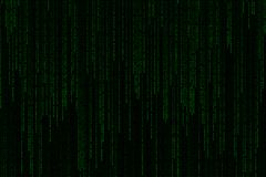 Matriz digital verde clara del fondo de la fraseología del texto que cae del top Imagenes de archivo