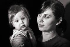 Matriz do retrato com bebê Imagens de Stock