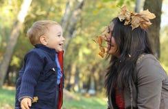 Matriz e bebé Imagens de Stock Royalty Free