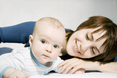 Matriz e bebê Foto de Stock