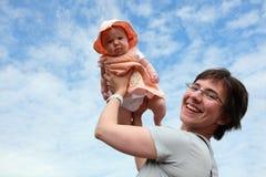 Matriz e bebê felizes Foto de Stock Royalty Free