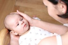 Matriz e bebê junto Fotos de Stock