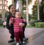 Matriz e bebê Fotografia de Stock