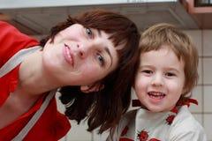 Matriz e criança Imagem de Stock