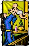 Matriz e criança ilustração do vetor