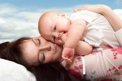 Matriz e criança Fotos de Stock Royalty Free