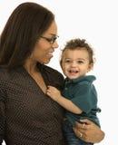 Matriz e criança. fotografia de stock
