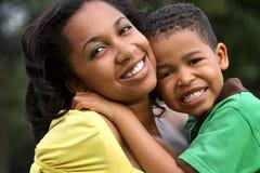 Matriz e criança felizes Foto de Stock Royalty Free