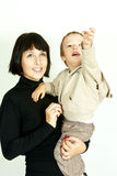 Matriz e criança felizes Fotos de Stock Royalty Free