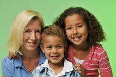 Matriz e crianças fotografia de stock royalty free