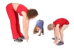 Matriz e crianças que treinam 2 Fotos de Stock
