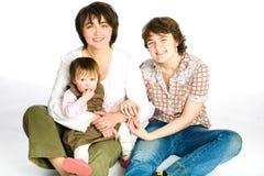 Matriz e duas filhas Fotografia de Stock