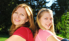 Matriz e filha fotos de stock
