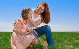 Matriz e filha ao ar livre imagens de stock royalty free