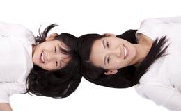 Matriz e filha bonitas Imagens de Stock Royalty Free